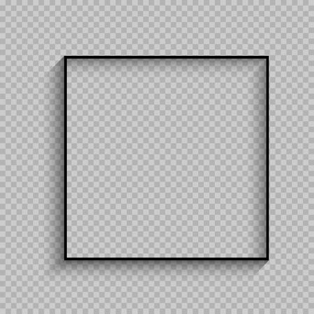 Black thin square frame design