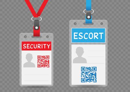 Security escort vertical badge