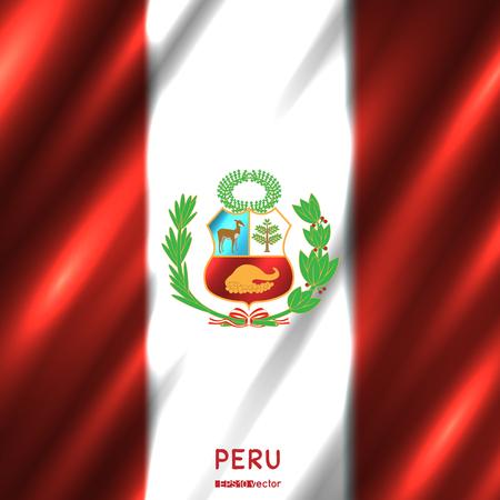 National Peru flag background