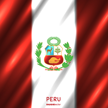 National Peru flag background