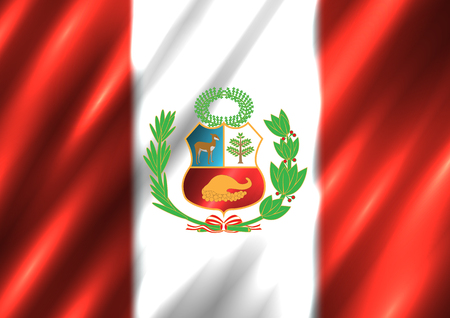 Peru national flag background