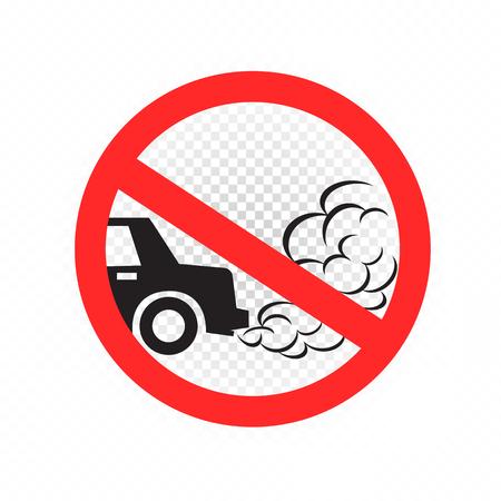 no idling engine off sign icon 向量圖像
