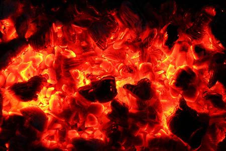 Ash fire dark night Фото со стока