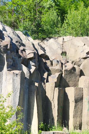 Basalt columns pile in nature