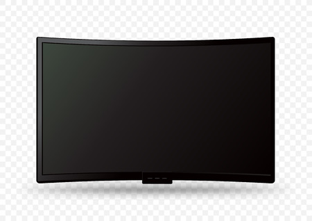 big curved wall tv