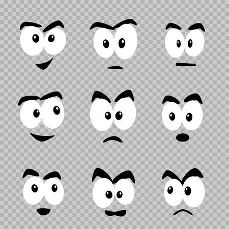 cartoon eyes template set Standard-Bild - 108907455