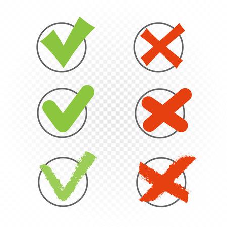 rundes Kontrollkästchen gesetzt ja nein zeichen