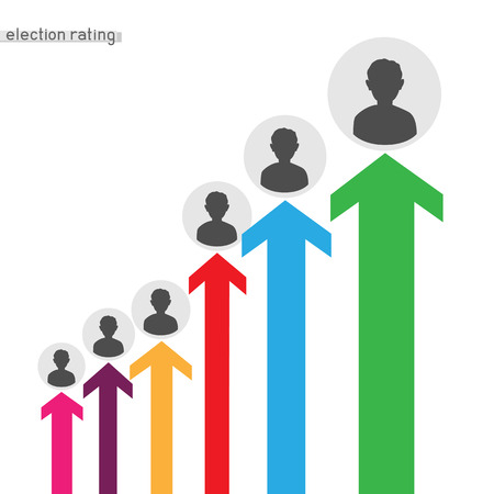 president election infographics Illustration