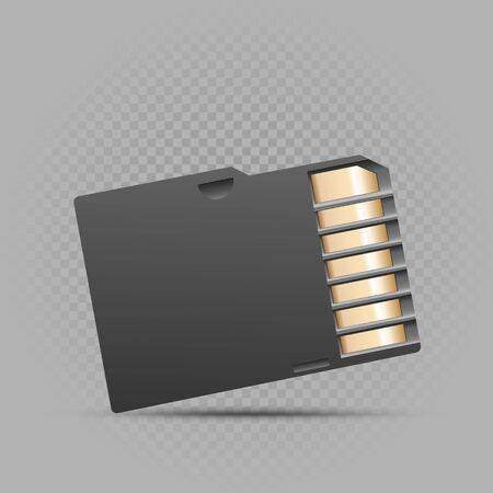 mini memory card on gray background 일러스트
