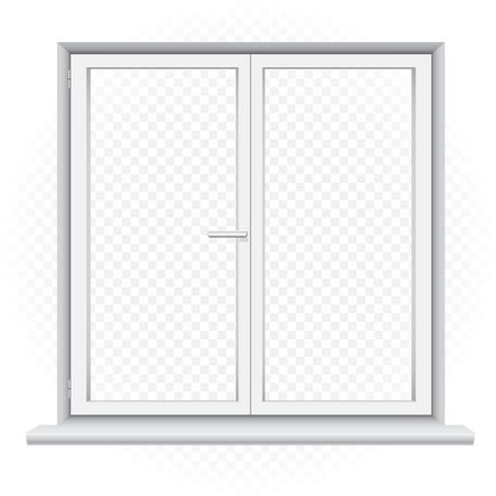 white double window template