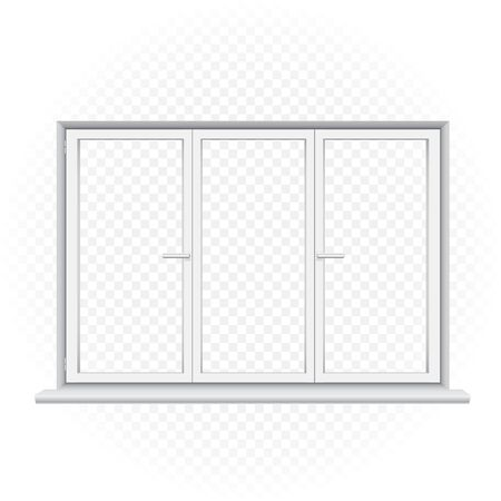white triple window template