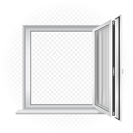 opened window template Illustration