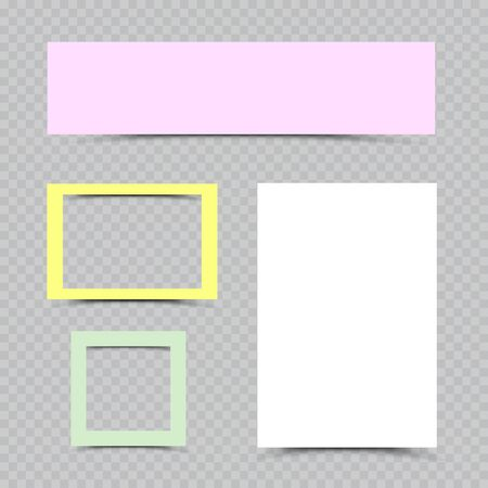 multicolor paper sheets and frames set