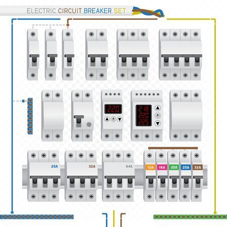 electric circuit breaker set Illustration