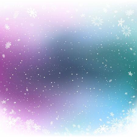 Fond de couleur hiver Noël chutes de neige