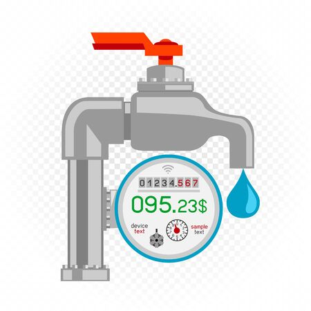 water meter icon white background