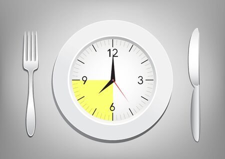 tablewares indicate time to supper