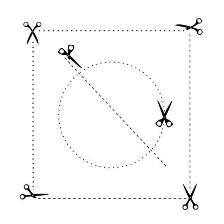scissors template set 向量圖像