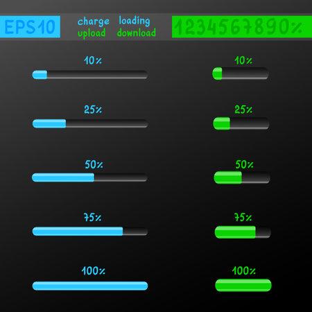 charge loading download upload mockup Ilustrace