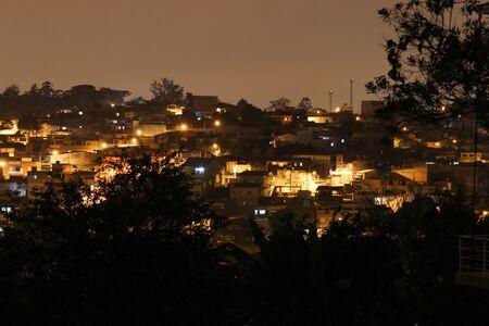 suburbian: Some small suburbian houses landscape at night