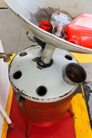 Olie kan in het terugwinnen van het benzinestation
