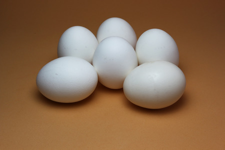 dozen: Half a dozen eggs in display Stock Photo
