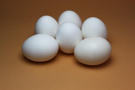 Half a dozen eggs in display Imagens