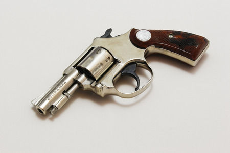 Revolver on white background.