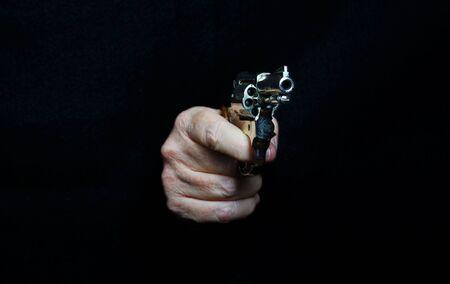 Revolver.Firearm weapon, portable gun, letal.Protectio Reklamní fotografie