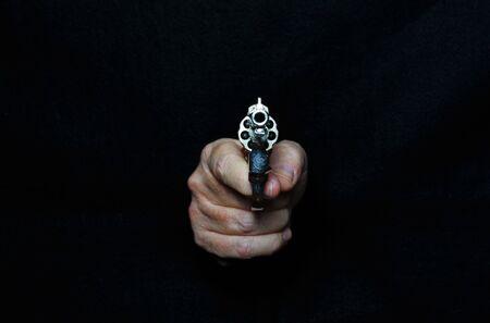 Revolver.Firearm weapon, portable gun, letal.Protection.