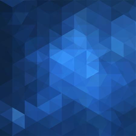 azul: Triângulo abstrato azul do teste padrão de formas geométricas,