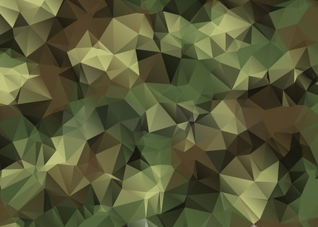 Abstract Military Camouflage Background Made of Geometric Triangles Shapes Vector