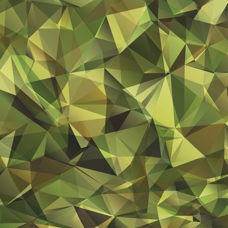 khaki: Abstract Vector Military Camouflage Background Made of Geometric Triangles Shapes