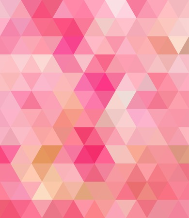 Pink Triangle Abstract Background. Vector Pattern of Colored Geometric Shapes
