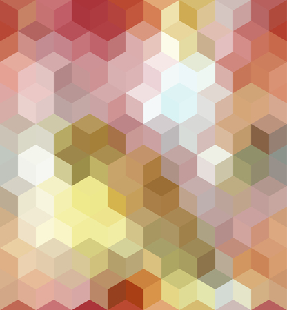 Colorful Seamless Square Abstract Background. Vector Pattern of Colored Geometric Shapes Illustration