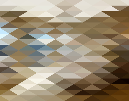 abstract background vector: Brown Triangle Abstract Background. Vector Pattern of Geometric Shapes Illustration