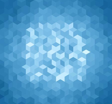 Blue Triangle Abstract Background. Vector Pattern of Geometric Shapes 版權商用圖片 - 34301557