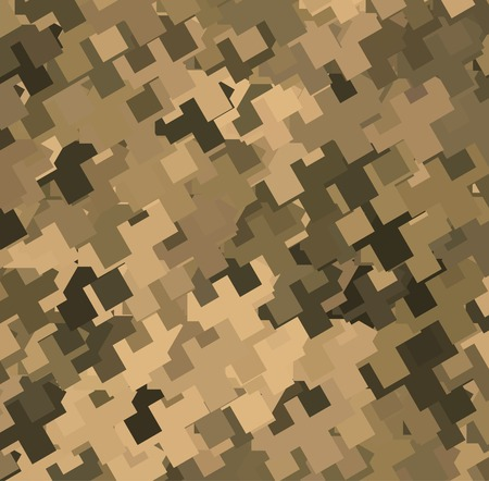 camouflage pattern: Abstract Vector Military Camouflage Background Made of Geometric Shapes Illustration