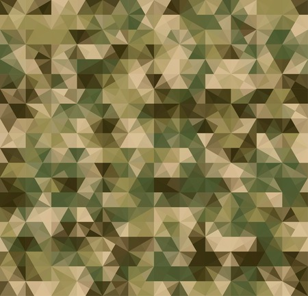 army camo: Abstract Seamless Vector Military Camouflage Background Made of Geometric Triangles Shapes Illustration