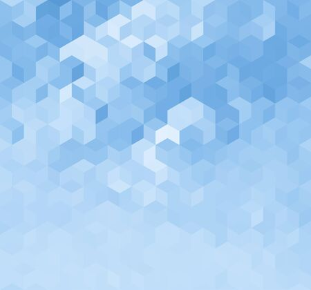 Blue Triangle Abstract Background. Vector Pattern of Geometric Shapes