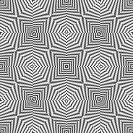 Vector seamless black and white abstract background of lines