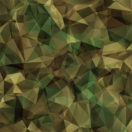 Abstract Vector Military Camouflage Background Made of Geometric Triangles Shapes