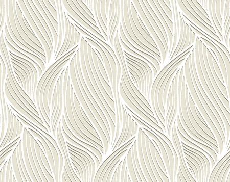 Abstract vector seamless wave background of plants drawn lines 版權商用圖片 - 37741931