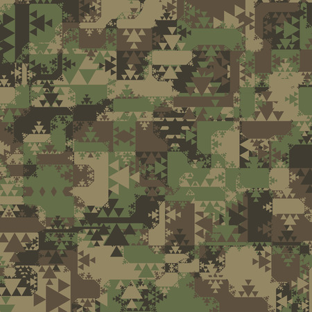 camouflage: Abstract Vector Military Camouflage Background Made of Geometric Triangles Shapes