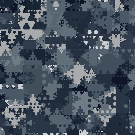 Abstract Vector Military Camouflage Background Made of Geometric Splash Illusztráció
