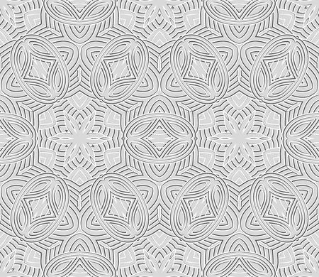 Vector Seamless Wallpaper. Vintage Pattern. Retro Background Vector