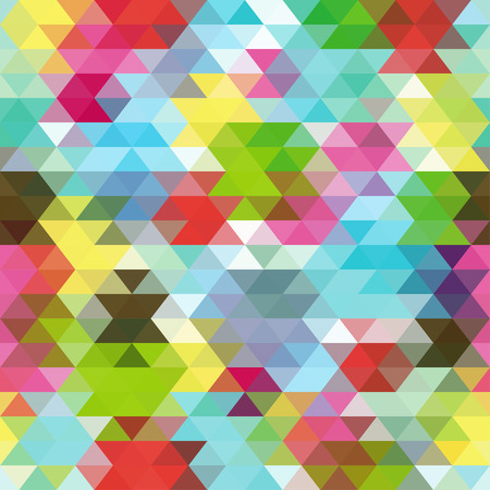 Colorful Seamless Triangle Abstract Background. Vector Pattern of Colored Geometric Shapes Illustration
