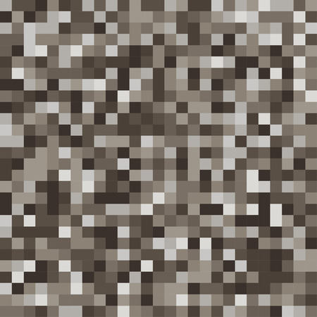 casing: Mosaic tiles texture vector pattern. Square pixel brown background
