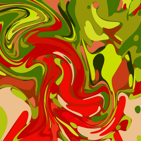 green and red: Watercolor Green Red Background.  Illustration