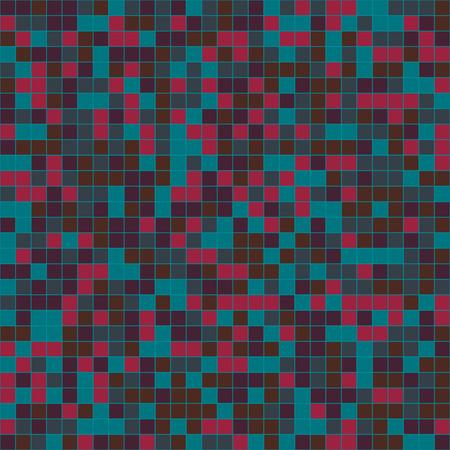 tiles texture: Mosaic tiles texture vector pattern. Square pixel seamless background